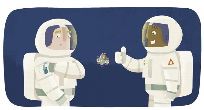 bij de astronauten
